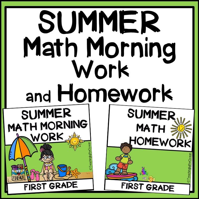 1st Grade Math Worksheets Summer Review