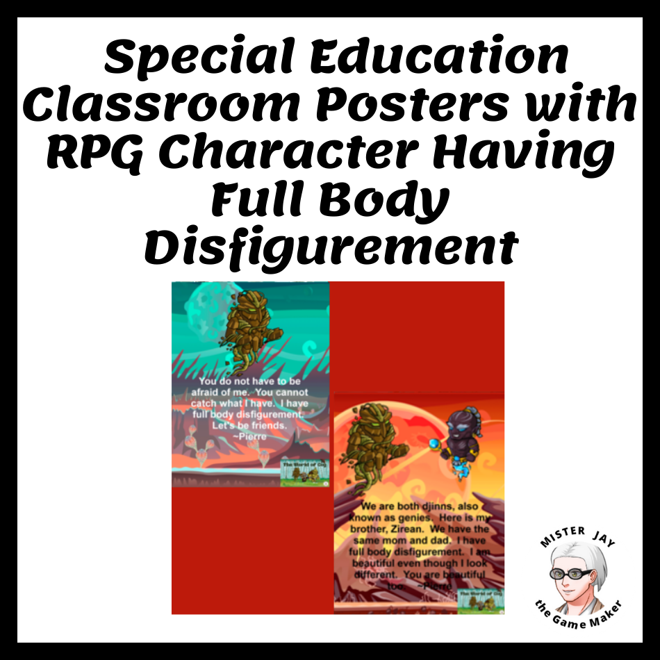 Special education Posters Full Body Disfigurement Printable