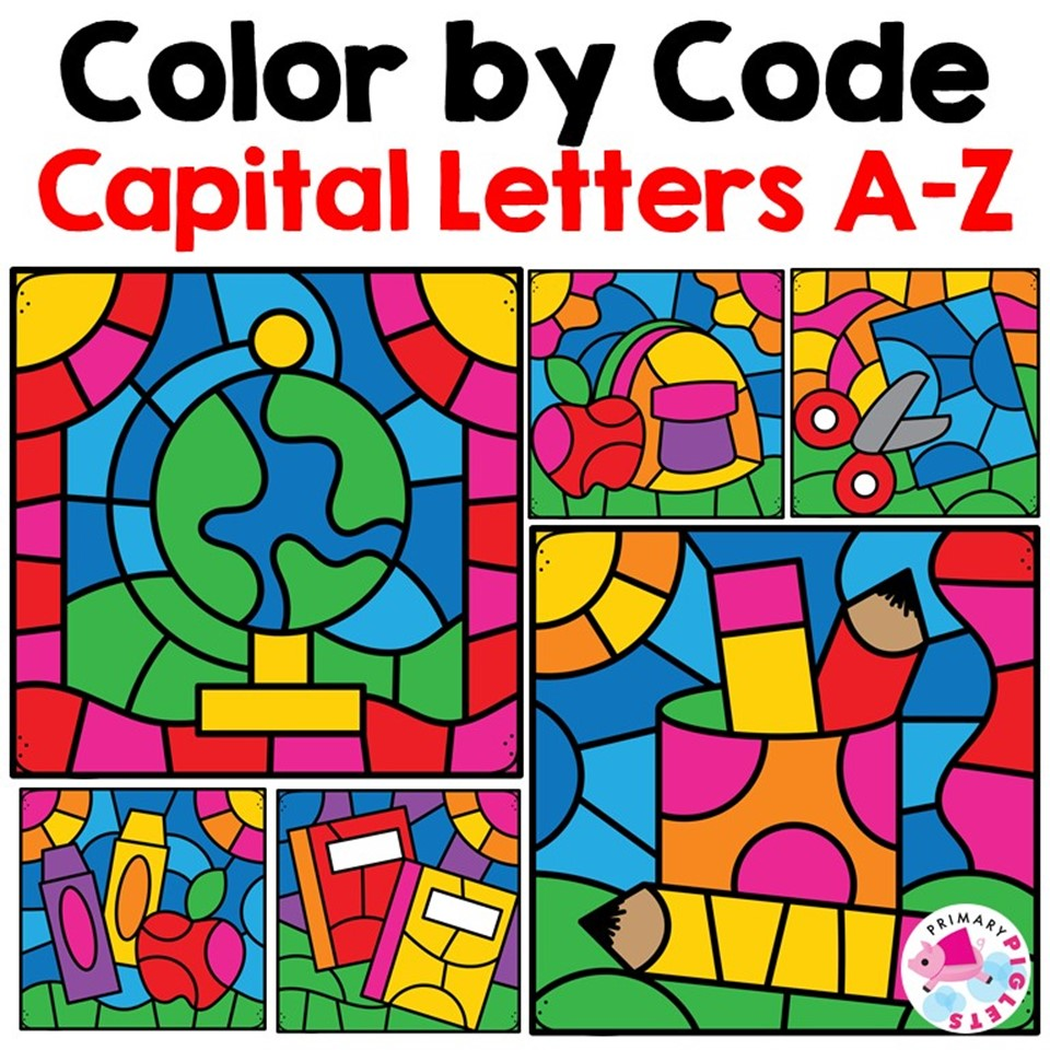 Color By Code Letters Printable