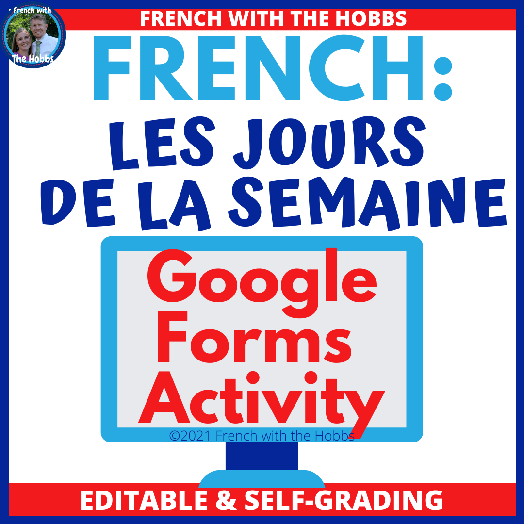 French Class Activity Days of the Week