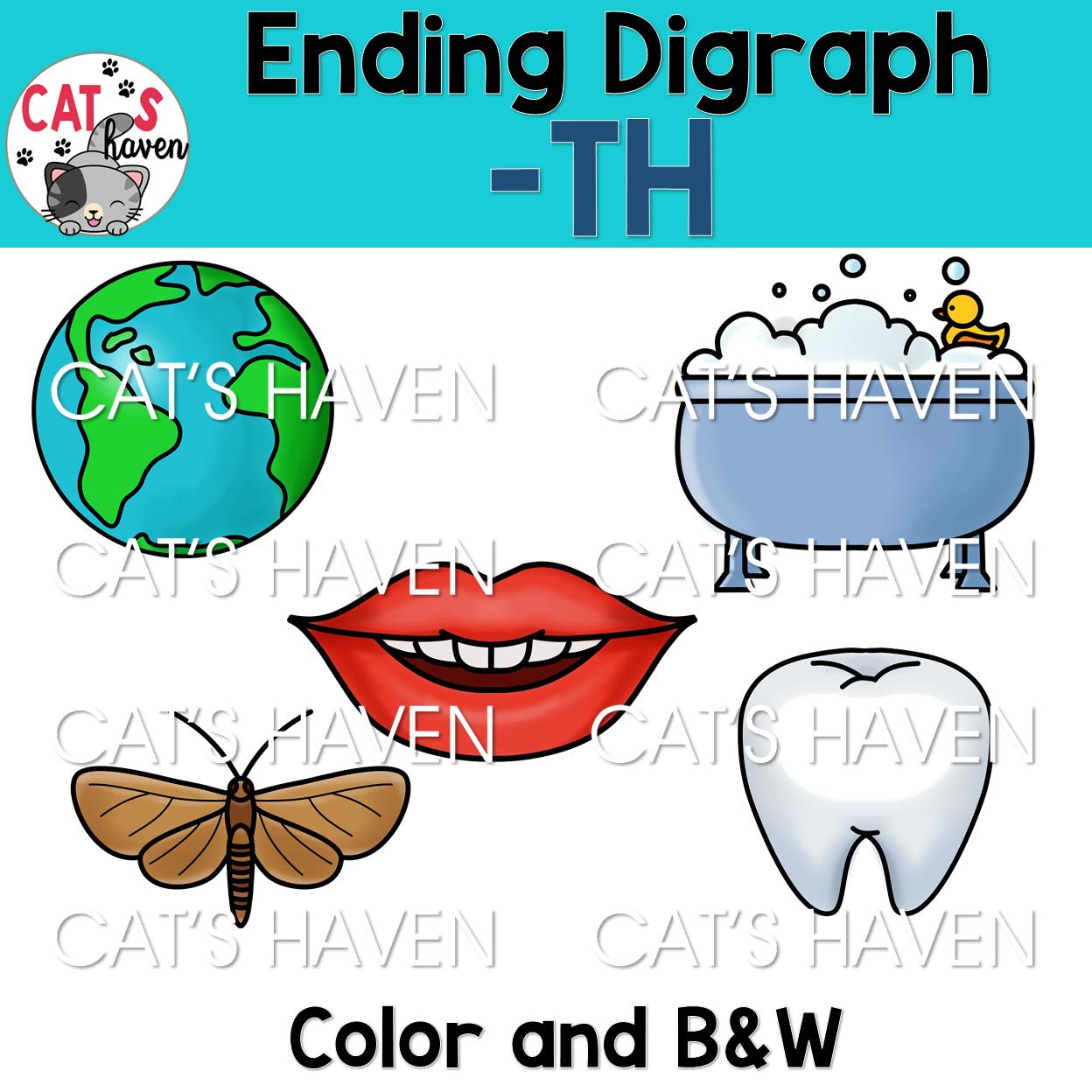 Digraph Clip Art for Teachers