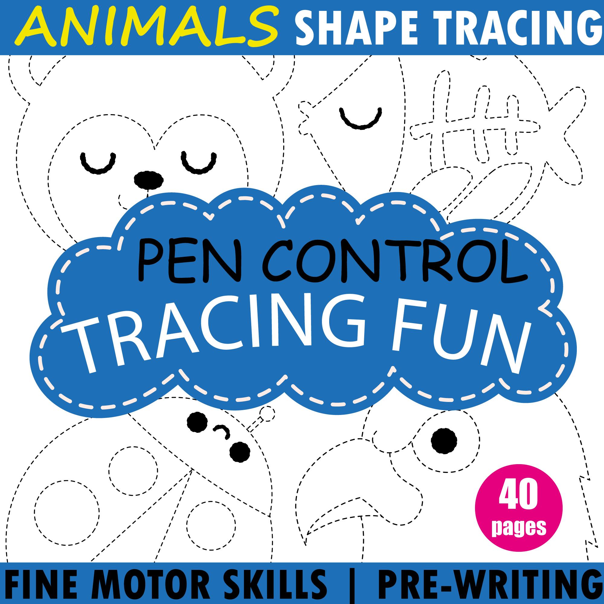 Tracing Fine Motor Skills Fun Printable Worksheets
