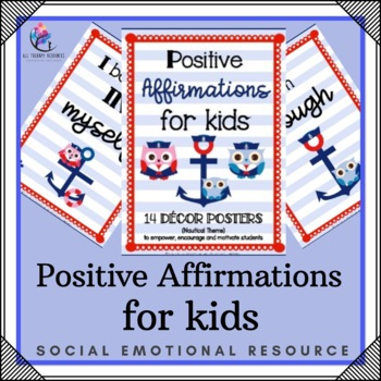 Positive Affirmation for Kids Printable Posters