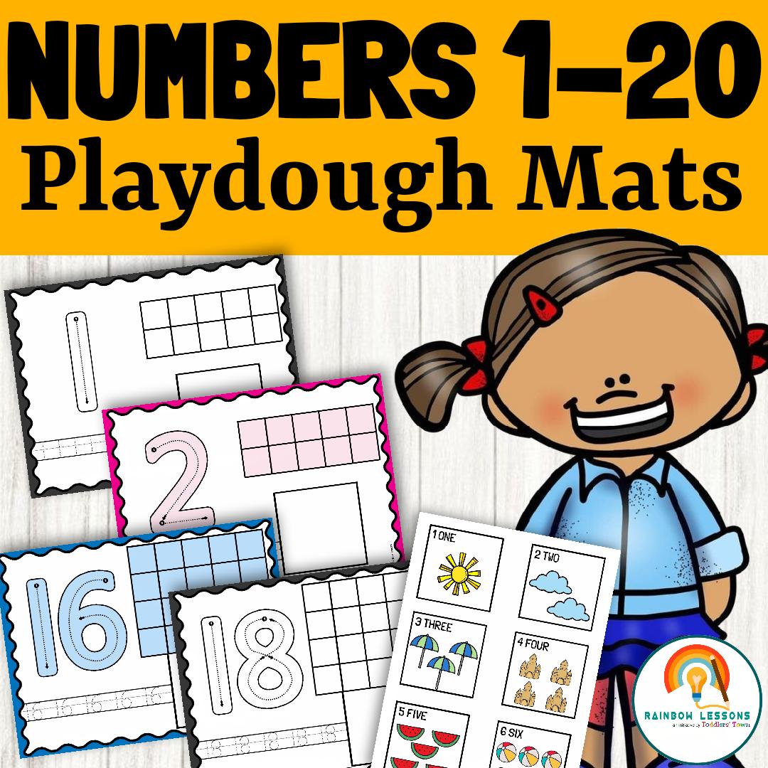 Playdough Number Mats   Playdough Numbers 1-20