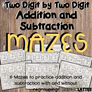 Addition and Subtraction Printable Mazes