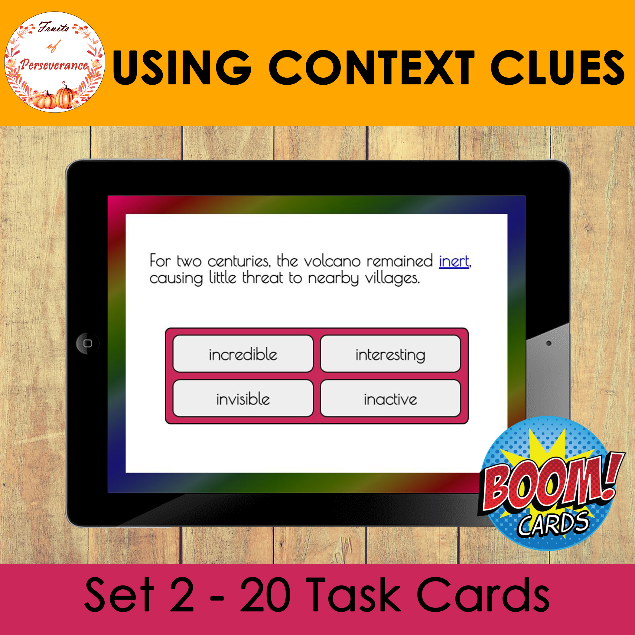Using Context Clues Boom Cards™ Set 2