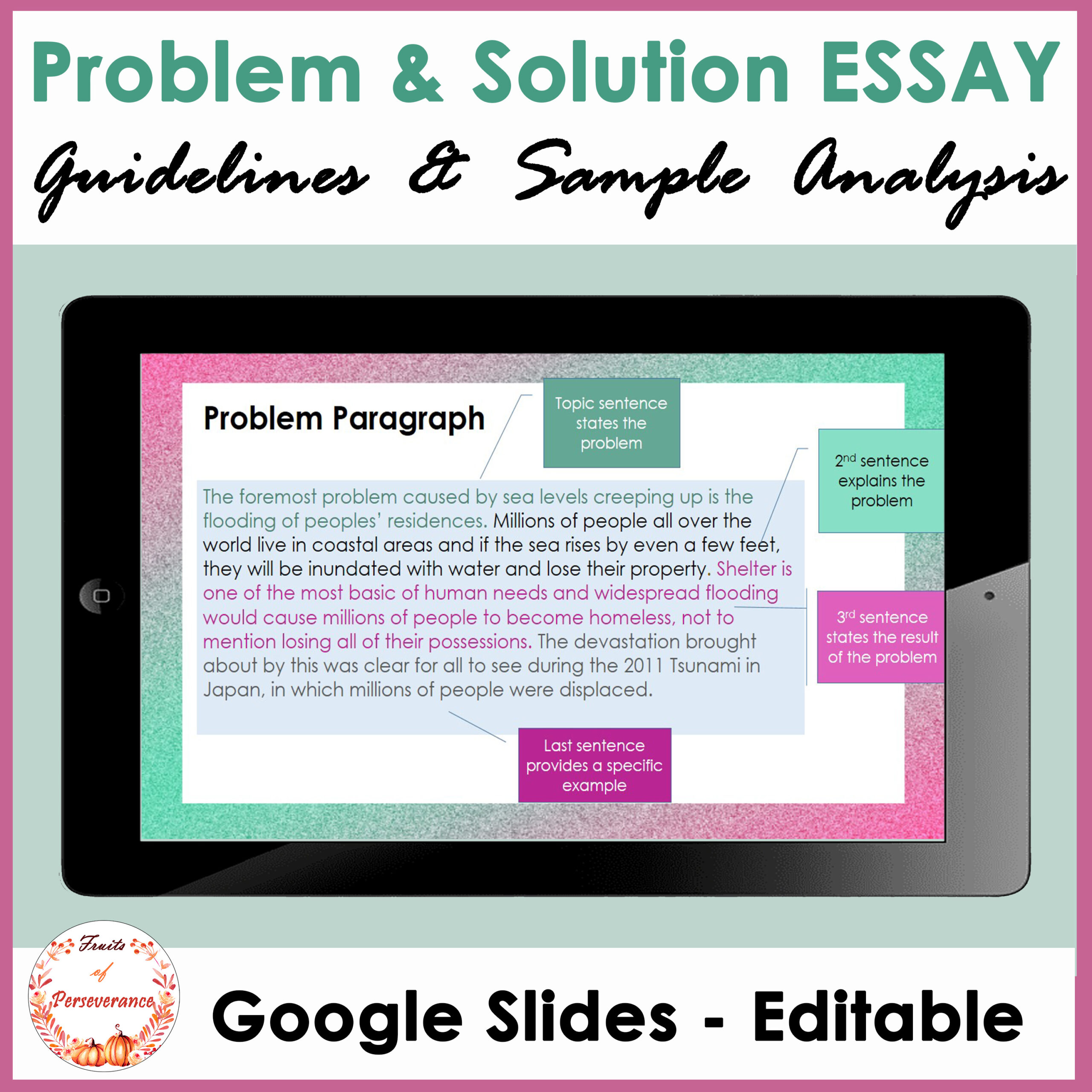 Problem and Solution Essay Writing Guidelines