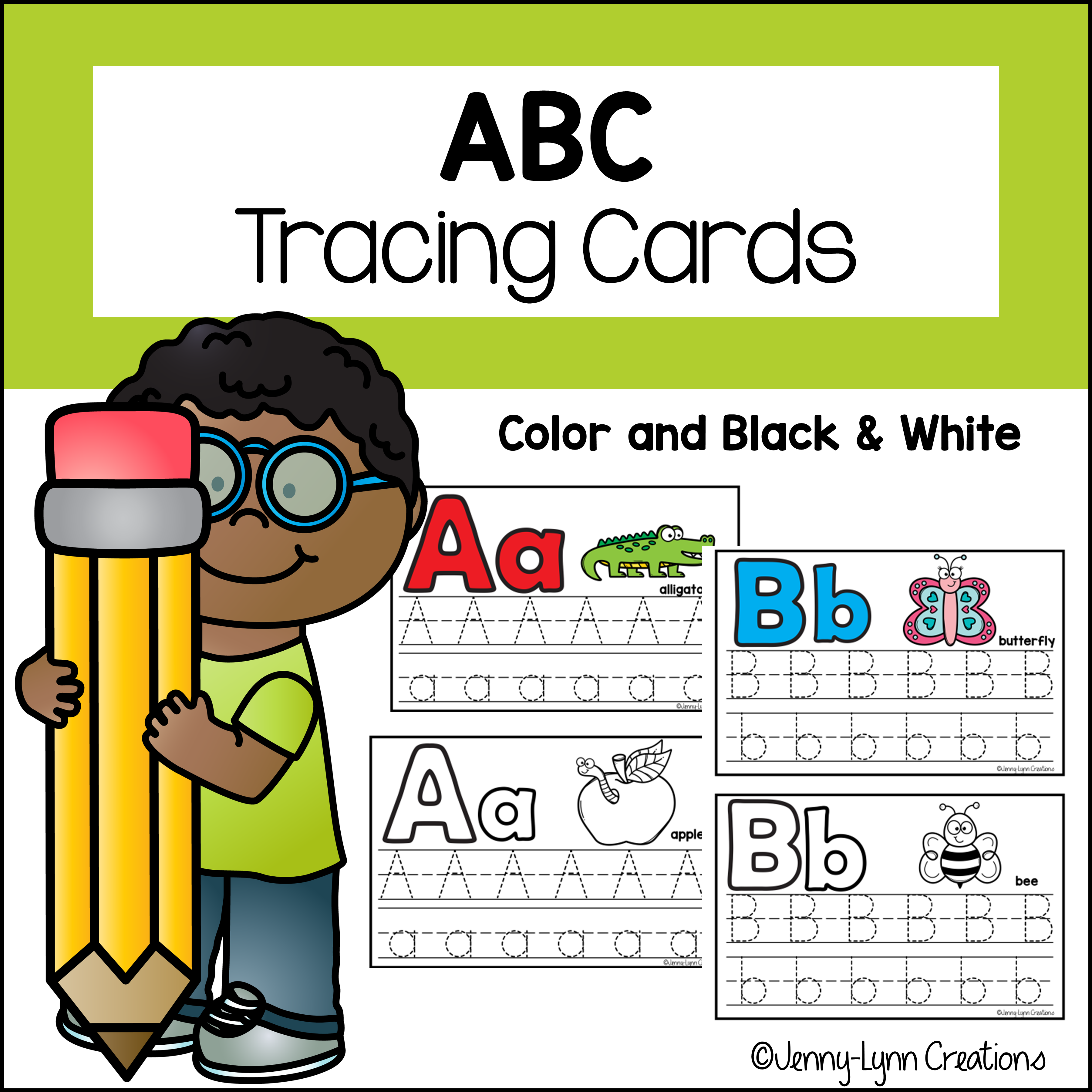 ABC Tracing Cards to Print
