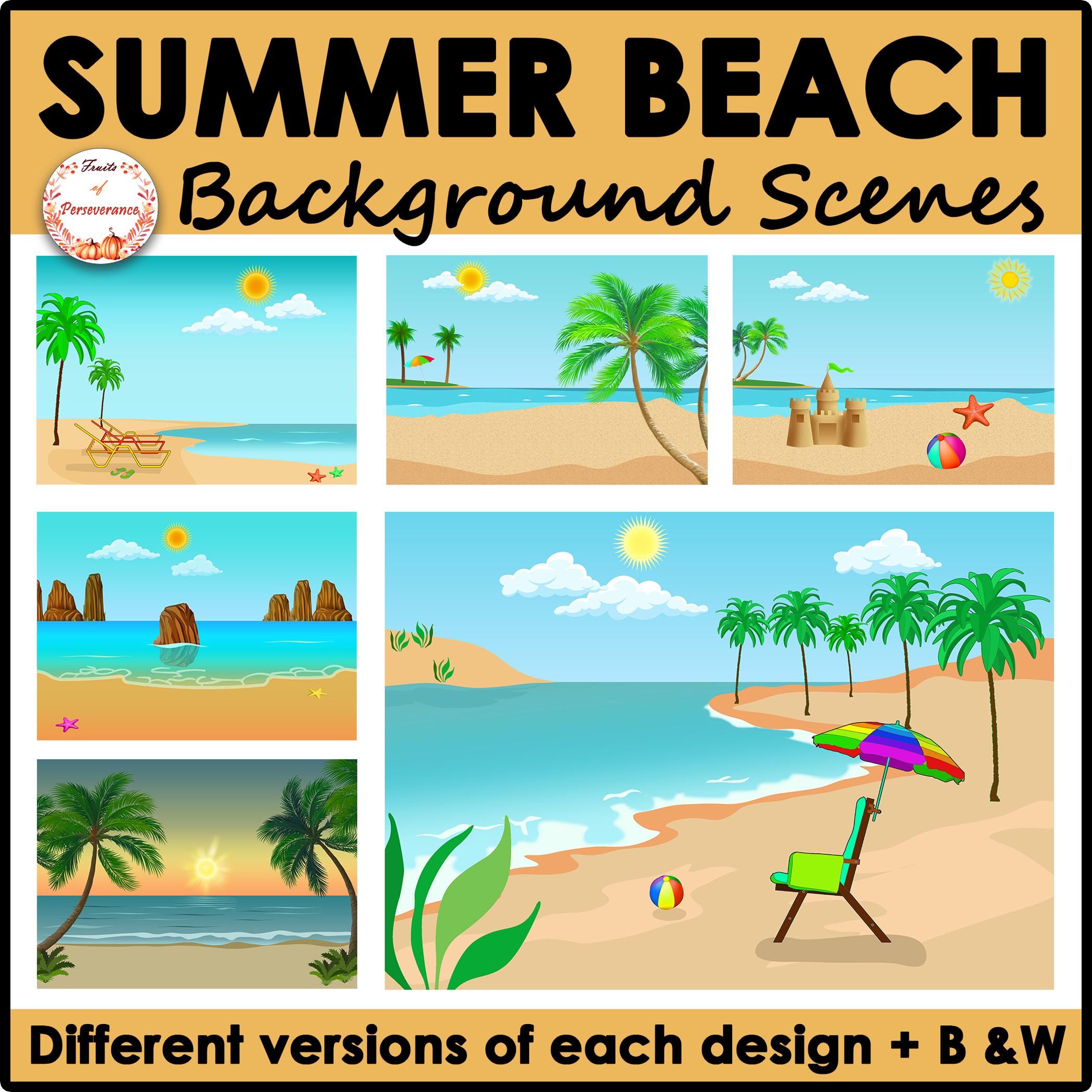 Beach Background Scenes Clipart