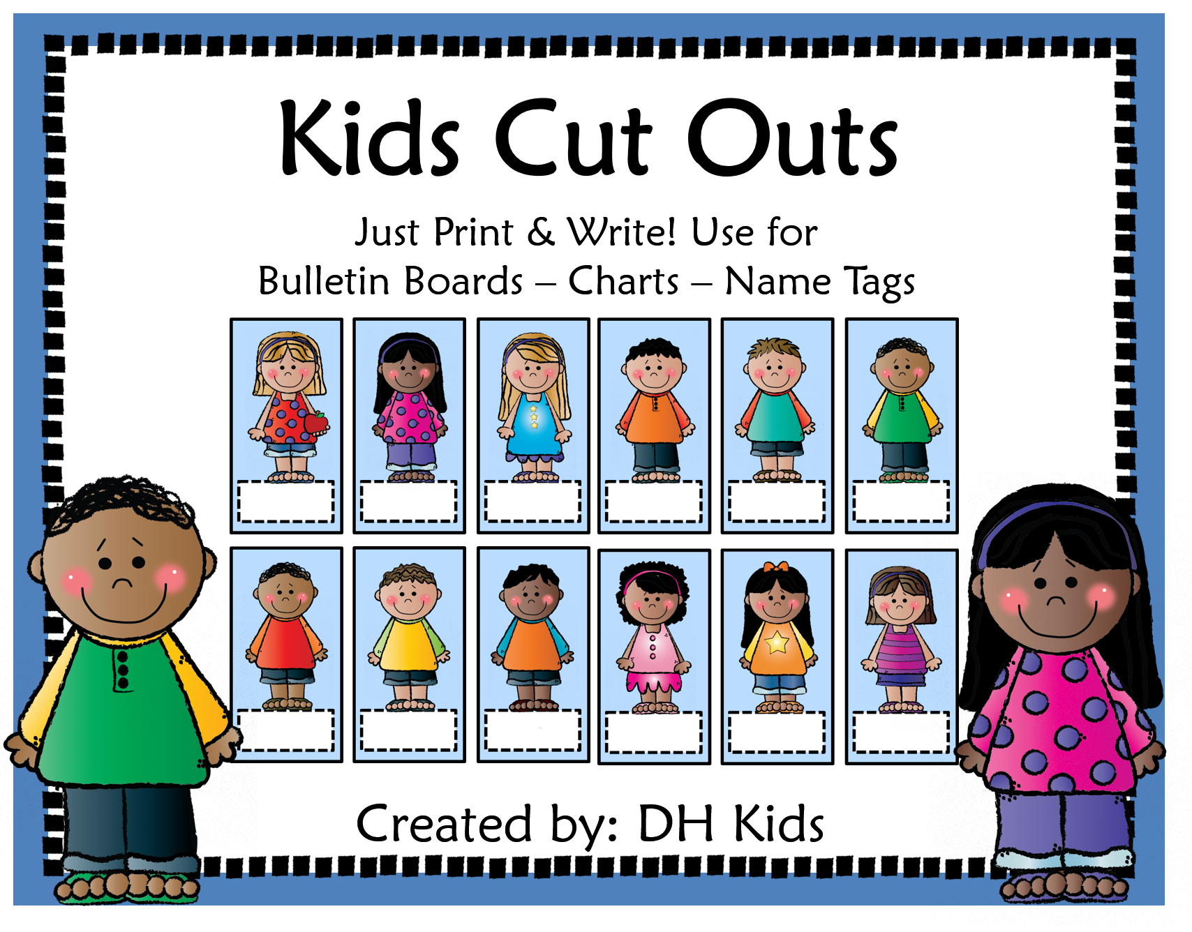 Kids Cut Outs - Name Labels - Name Tags