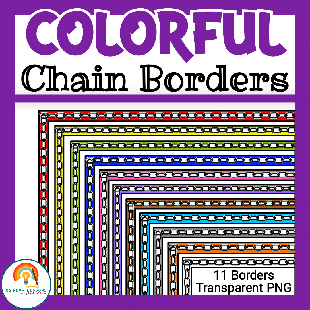 Colorful Page Borders | Chain Borders