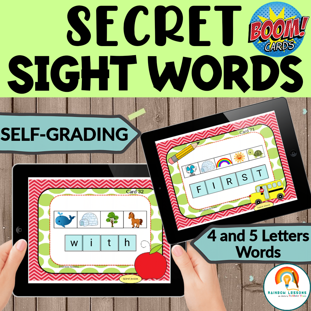 Sight Words Boom Cards Frys First 100 Sight Words