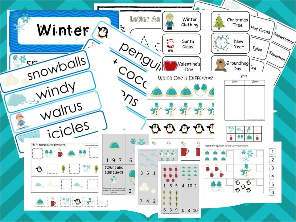 Winter Curriculum Package Download. Preschool-Kind