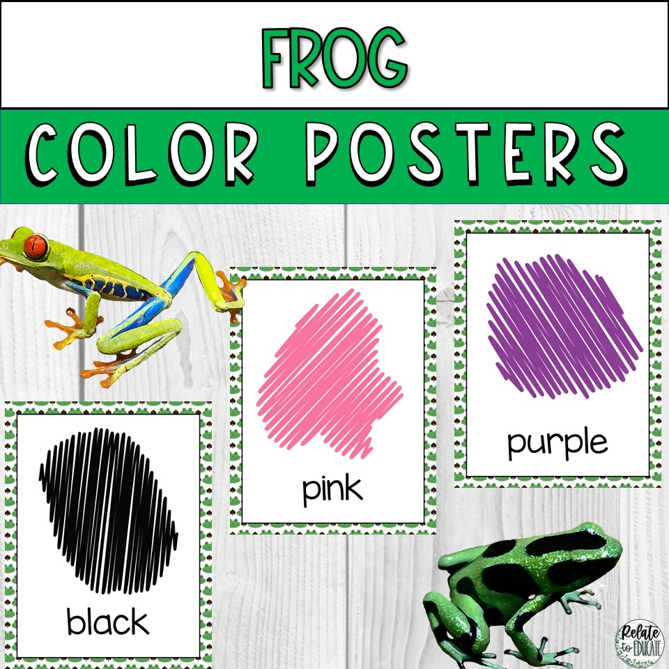 Frog Printable Color Poster Signs