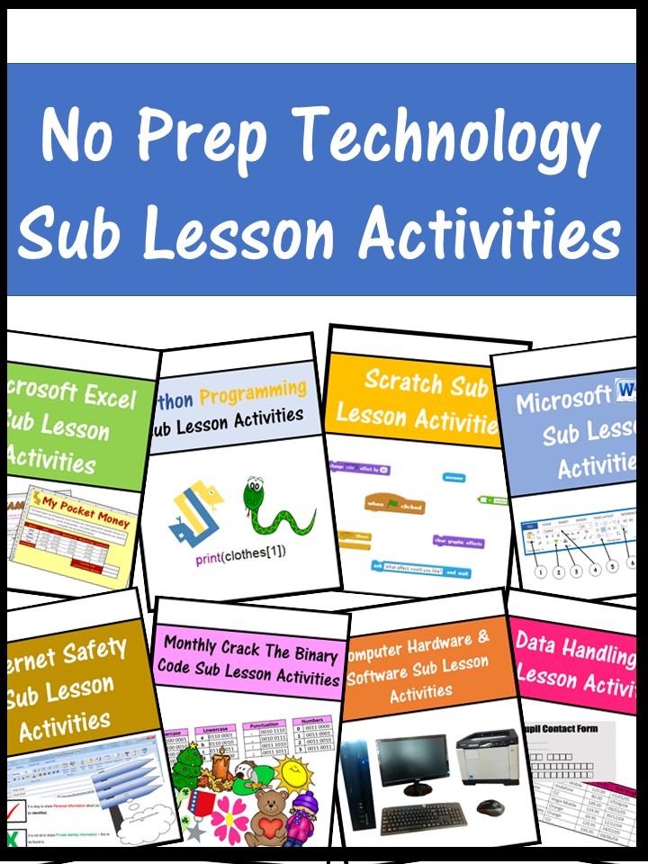 Emergency Sub Technology & Coding Lesson Plans