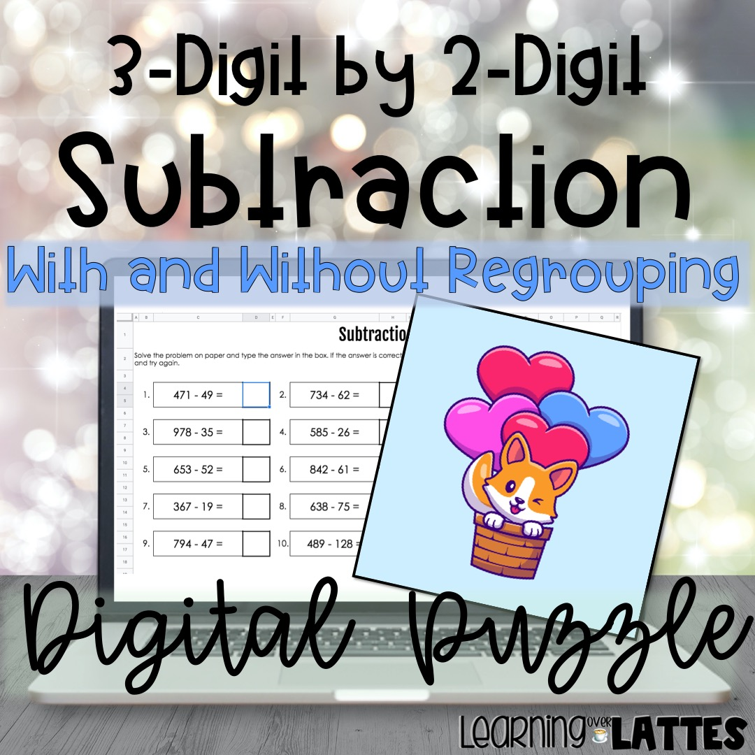 Subtraction with & without Regrouping Puzzle