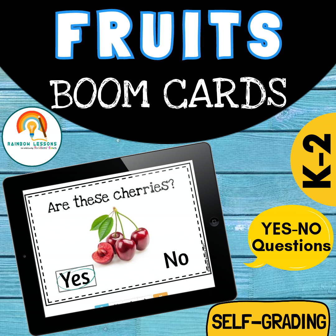 Fruits Yes No Boom Cards
