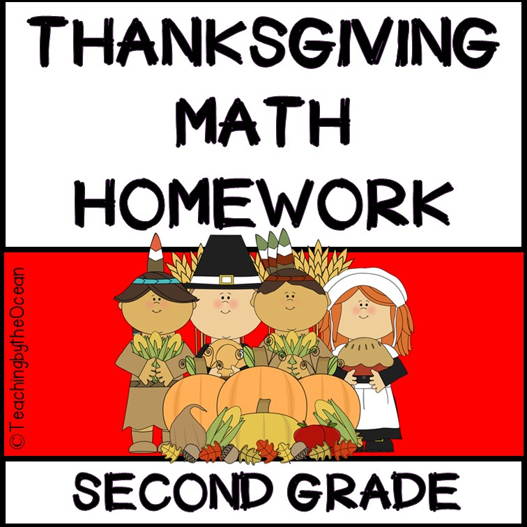 2nd Grade Math Homework – Thanksgiving