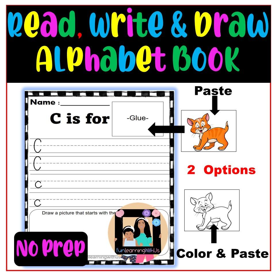 Read Write & Draw Alphabet Practice Book (NO PREP)