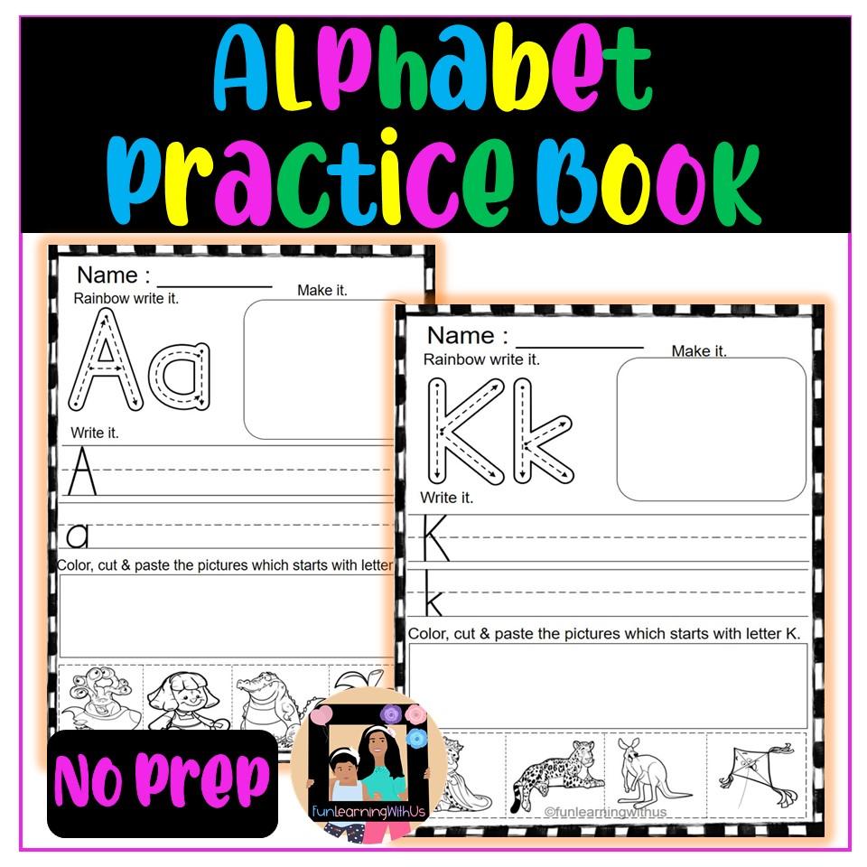 Alphabet Writing Practice Book (NO PREP)|