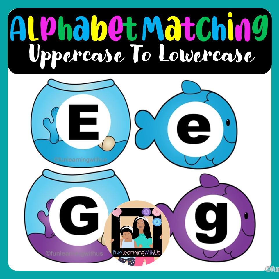 Alphabet Matching - Uppercase to Lowercase Letters