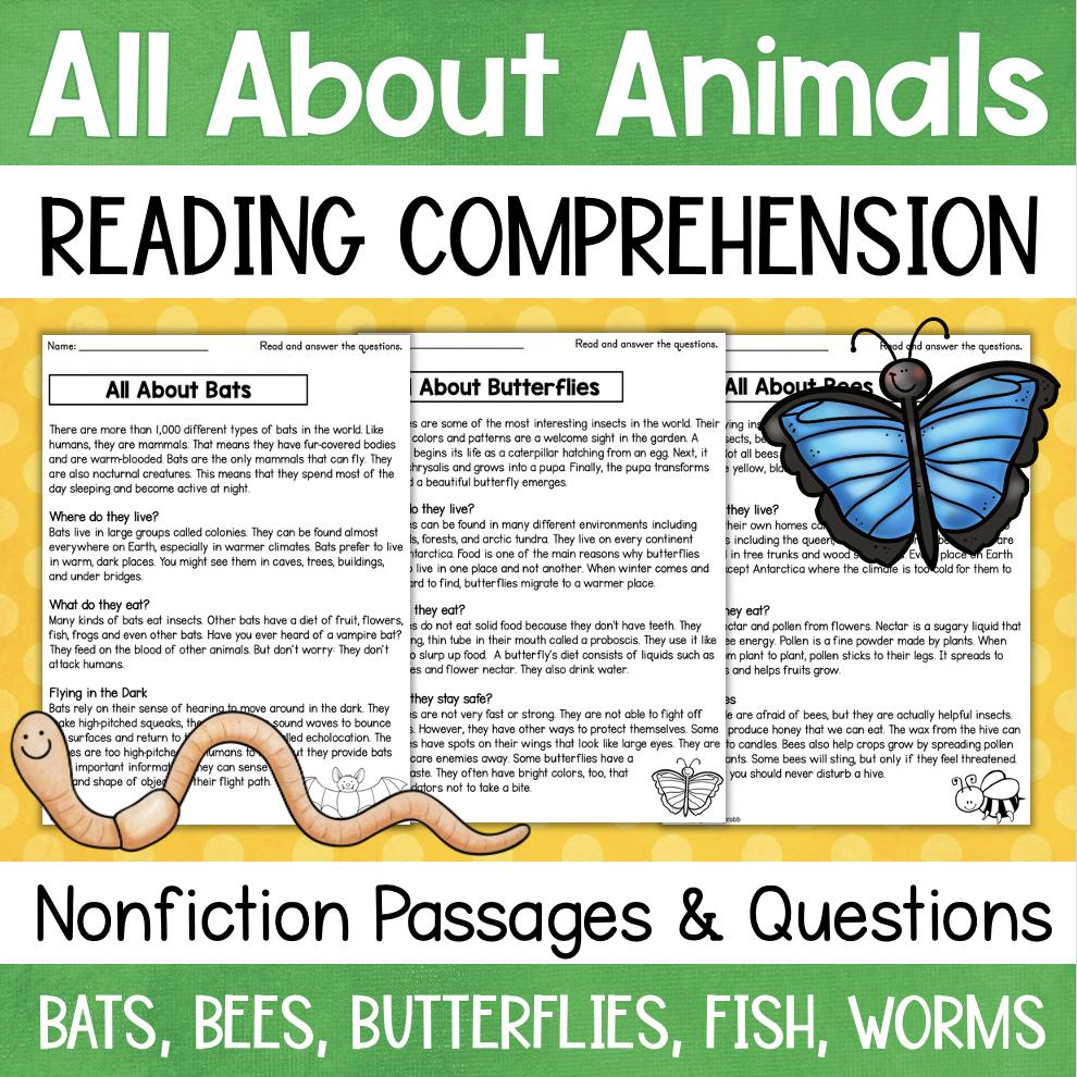 3rd Grade Reading Comprehension Printable Worksheets