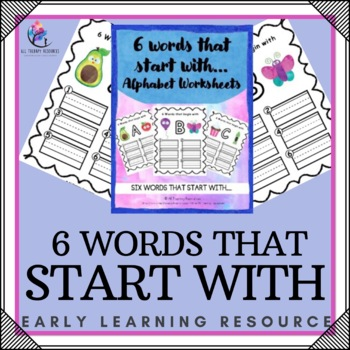 Printable Activities - 6 Words that start with