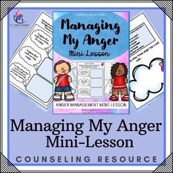 Managing Anger Mini Lesson Printable PDF