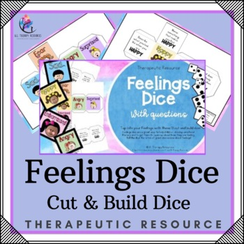 Printable Dice Templates - Feelings and Emotions Dice