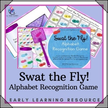 Printable Alphabet Recognition Game - Swat the Fly