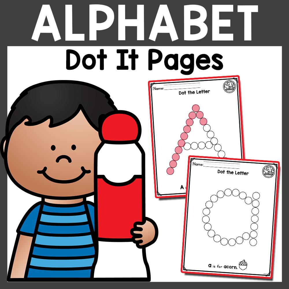 Alphabet Dot It Activity Fine Motor Skills