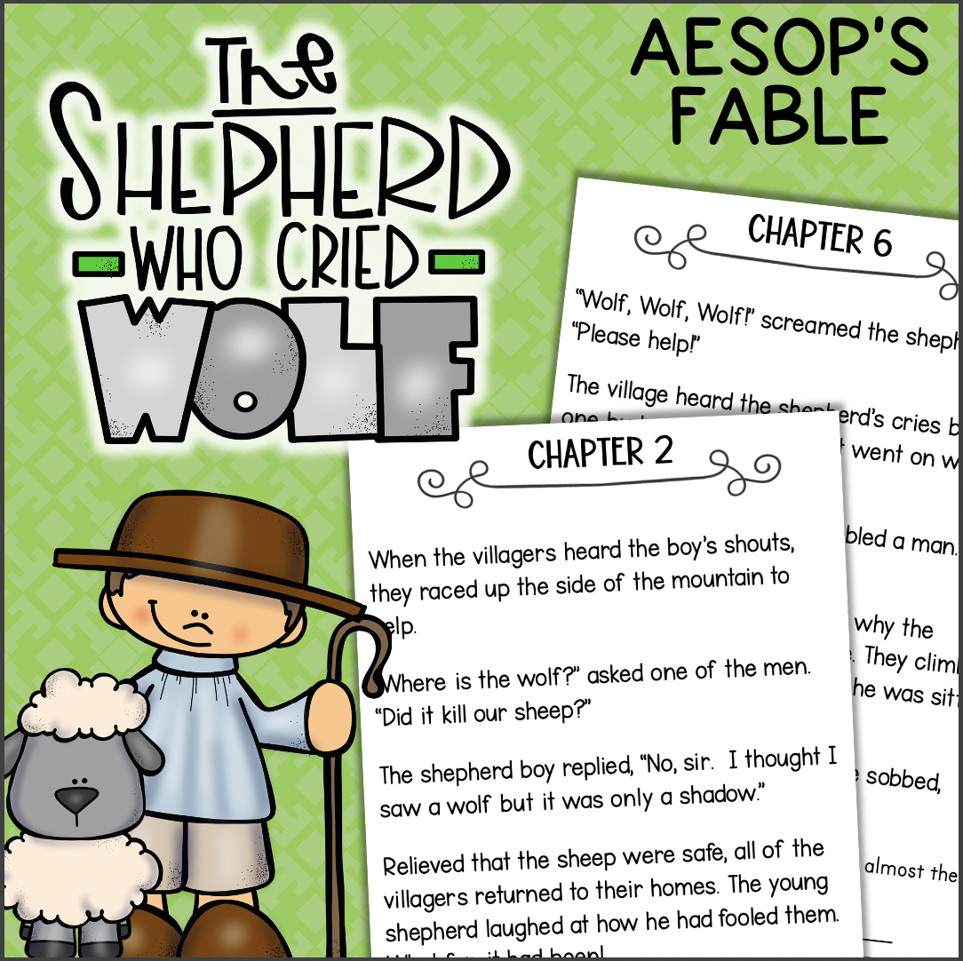 Aesops Fables THE BOY WHO CRIED WOLF Comprehension