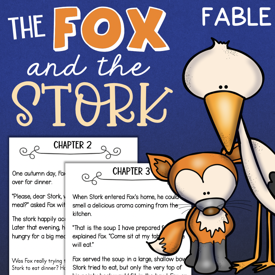 Aesops Fable THE FOX AND THE STORK Comprehension