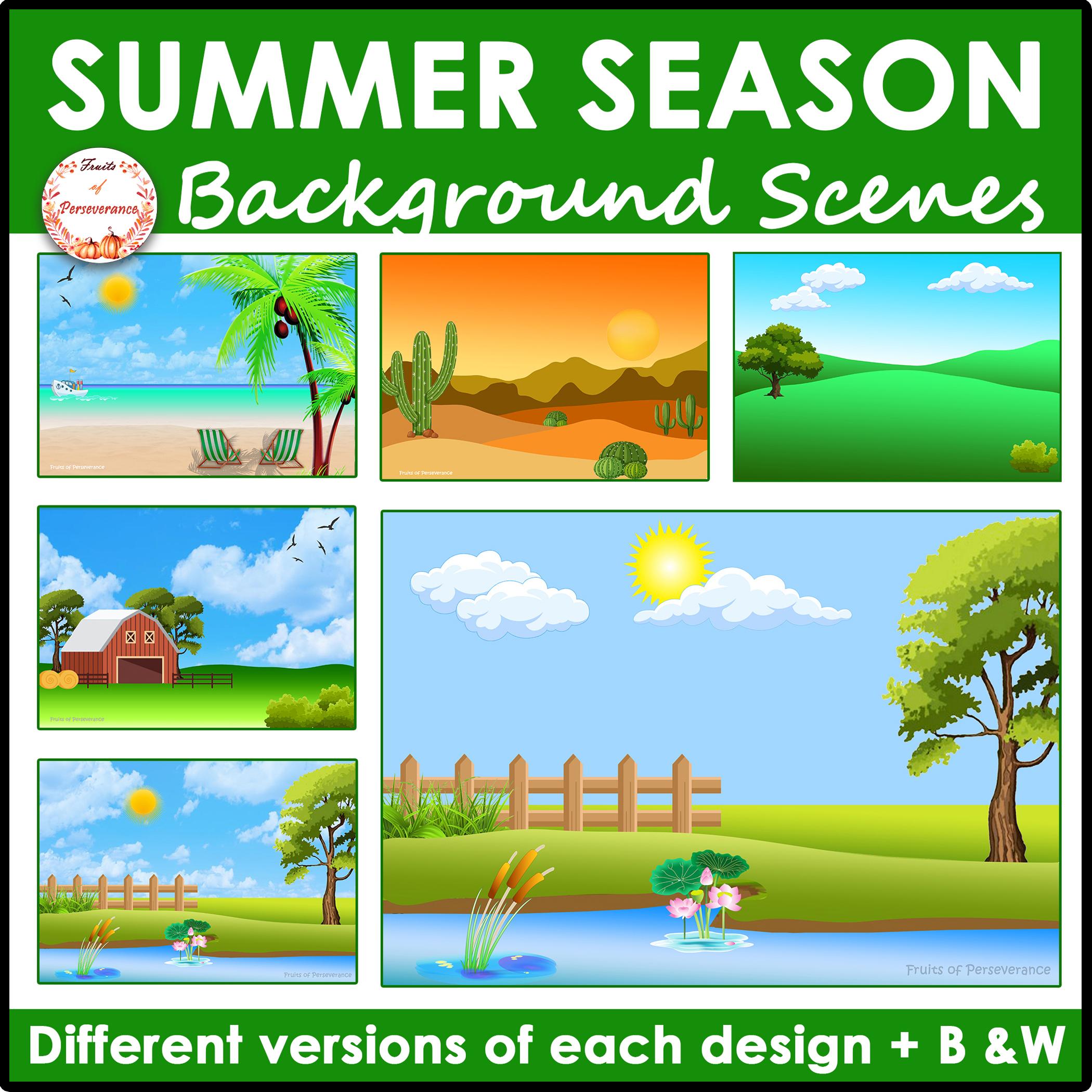 Summer Background Scenes Clipart