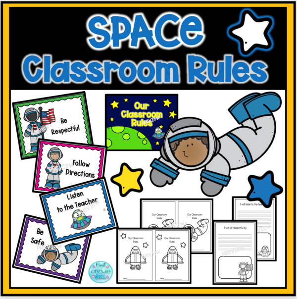 Classroom Rule Posters Space Themed