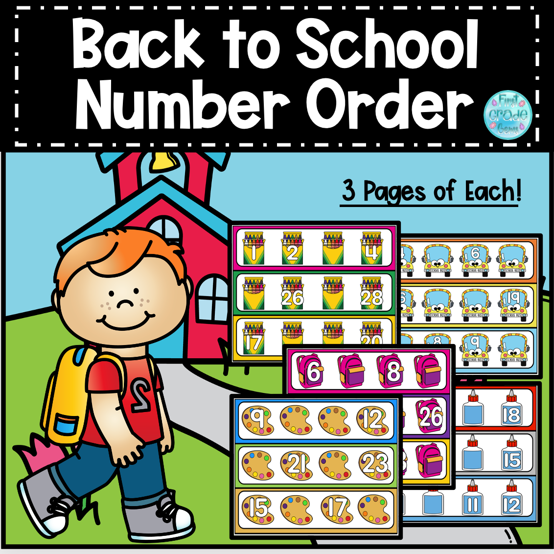 Math Number Order Activity Cards