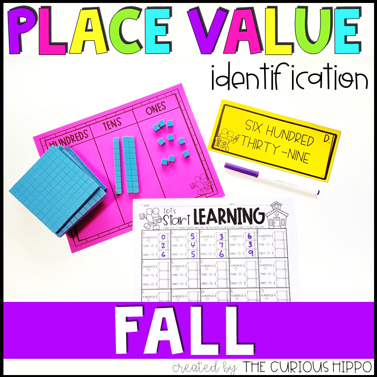 Place Value Worksheets for Fall