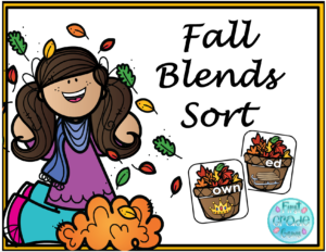 Fall Consonant Blends Downloadable Teaching Resources