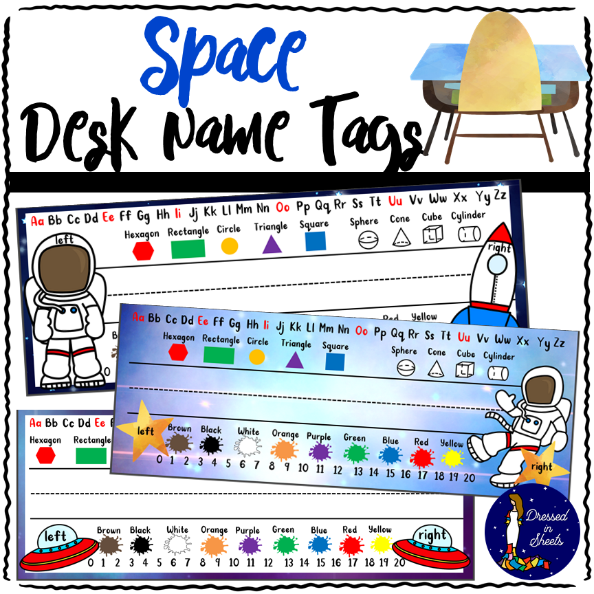 Desk Name Tag Downloadable Teaching Resources