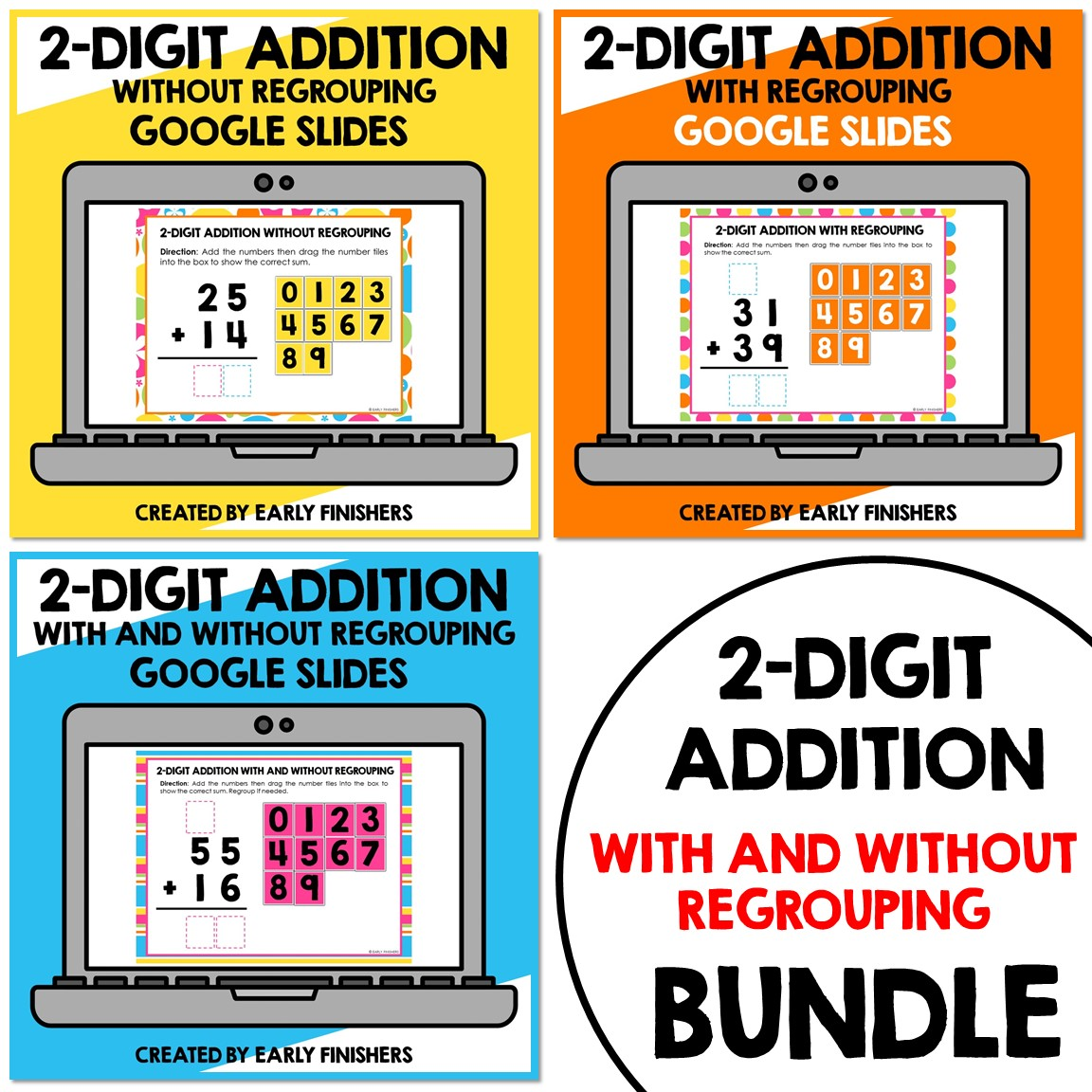 2 Digit Addition Math Worksheets Downloadable Teaching Resources