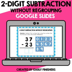 2 Digit Subtraction Math Worksheets Downloadable Teaching Resources