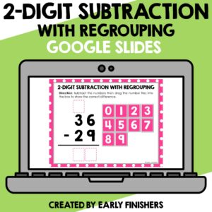 2 Digit Subtraction with Regrouping Worksheets Downloadable Teaching Resources