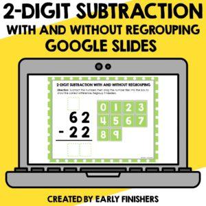 2 Digit Subtraction Math Downloadable Teaching Resources