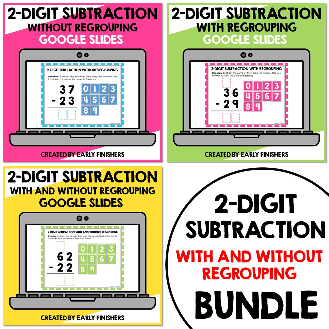 Math Subtraction 2 Digits Downloadable Teaching Resources