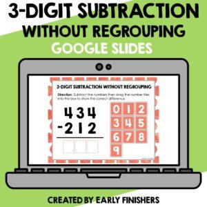 3 Digit Subtraction Math Downloadable Teaching Resources