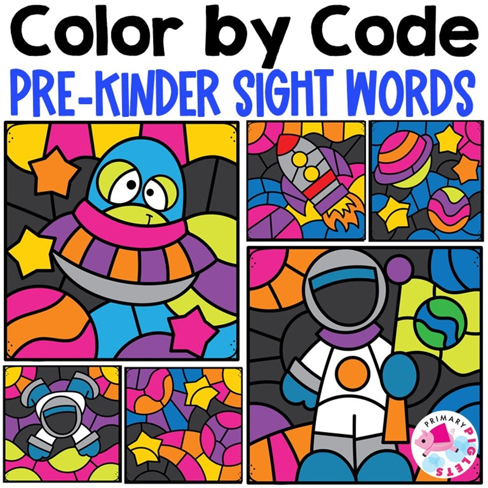 Color By Code Sight Words
