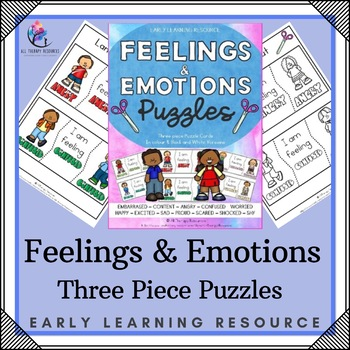 Printable Feelings and Emotions Puzzles