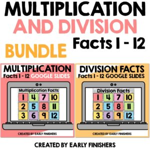 Multiplication and Division Facts Google Slides Activity