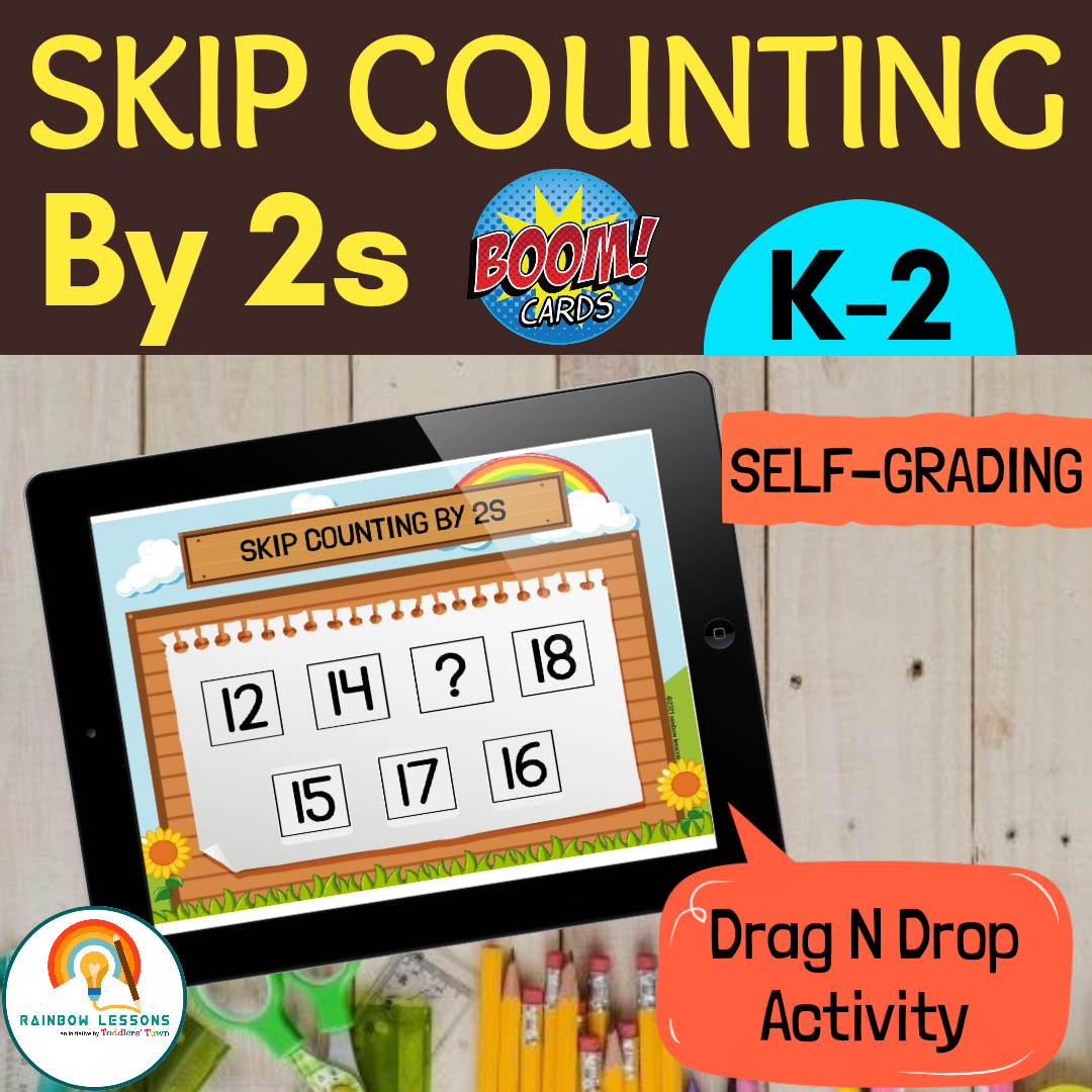 Skip Counting Numbers by 2s to 50