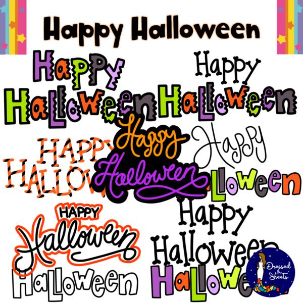 Happy Halloween Text Clip Art